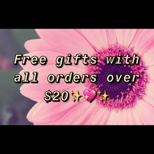 FREE GIFTS WITH ALL $20 PURCHASE 💖
